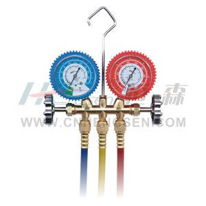 CT-636 G F/ J Brass Manifold Gauges Set for R134A Double Gauges Manifold Set Air Conditioner Parts Refrigeration Parts Refrigeration Tools pictures & photos