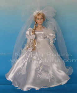 "20"" Porcelain Bride Doll (SC201527)"