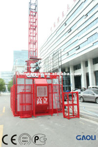 Double Cage Good Performance Electric Freight Construction Elevator with Customizable pictures & photos