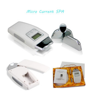 LCD Display 3 Treatment Head Facial Massager Galvanic Microcurrent Face Lift Wrinkle Removal Portable Microcurrent Skin Massager pictures & photos
