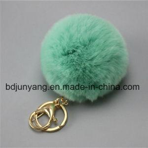 Handmade Colored Real Rabbit Fur POM POM pictures & photos