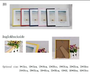Plastic Back Open Photo Frame /Picture Frame/Photo Frame/Frame (BB) pictures & photos