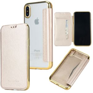 Electroplating TPU+PU Leather Case for iPhone X pictures & photos