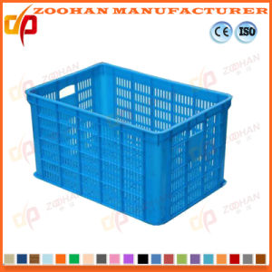 Supermarket Plastic Fruit Turnover Basket Vegetable Display Container Box (Zhtb8) pictures & photos