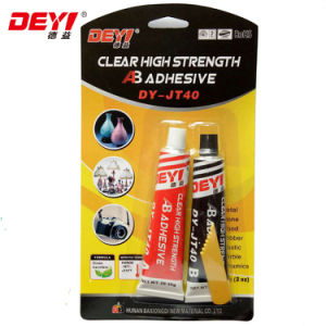 High Quality Latest Transparent Modified-Acrylic Ab Adhesive Glue Jt40 pictures & photos