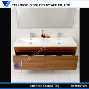 One Piece Bathroom Sink and Countertop, Ceramic Wash Basin pictures & photos