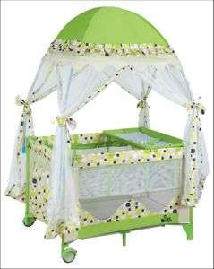 European Standard Baby Playpen with Luxury Mosquito Net and Diaper Changer pictures & photos
