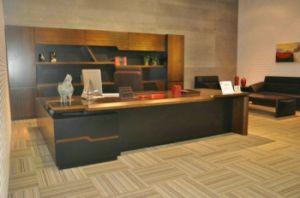 Walnut Veneer Office Furniture Saosen Executive Desk CEO Desk