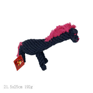 Pet Champion Medium 10 Inch Cotton Dog Rope Toy Savage Horse pictures & photos