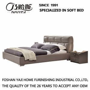Model Leather King and Queen Size Bed Furniture G7003 pictures & photos