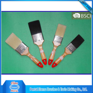 Plain Wooden Handle Angled Paint Brush pictures & photos