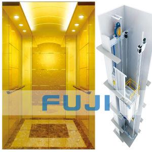 FUJI Passenger Elevator Lift with Titanium Gold Mirror Price pictures & photos