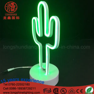 Custom Sign LED Flamingo Coconut Tree Cloud Cactus Neon Table Light for Desk pictures & photos