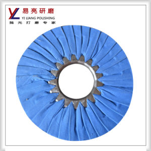Yiliang Stainless Iron Bias Cloth Airway Buffing Wheel pictures & photos