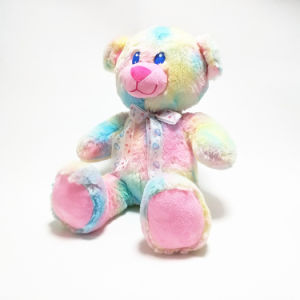 Rainbow Plush Teddy Fluffy Bear Fancy Jumbo Gift Soft Toy pictures & photos