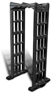 Black Portable Walk Through Metal Detector Security Gates pictures & photos