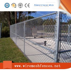 Chain Link Fence with Barbed Wire Fence for Garden Fence pictures & photos