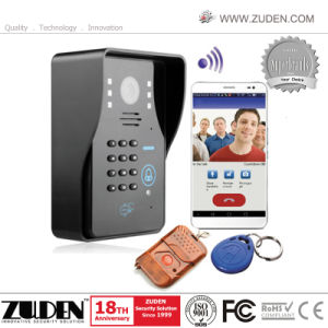 WiFi Video Door Phone with Pin Keypad /ID Card Unlocking pictures & photos