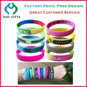 Rubber Wristband with No Miminum Order Qty (KSD-854) pictures & photos