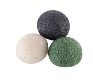 Chinese Colorful Bath Body Organic Cleaning Facial Bamboo Charcoal Facial Konjac Sponge Wholesale pictures & photos
