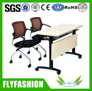 Modern Style Double School Desk and Chair with Wheels (SF-51D) pictures & photos