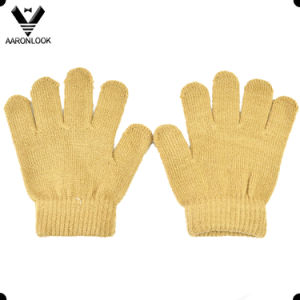 Winter Plain Solid Color Acrylic Magic Baby Glove pictures & photos