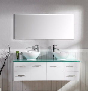 New Style MDF Bathroom Vanity with Ceramic Basin pictures & photos