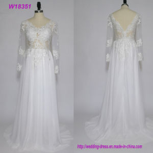 W18506 New Style Elegant Long Sleeve Mermaid Wedding Dress pictures & photos