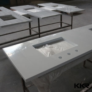 Waterproof Solid Surface Outdoor Kitchen Countertop / Acrylic Solid Surface Worktop pictures & photos