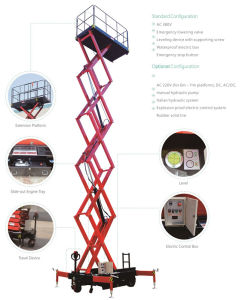Self-Propelled Scissor Lift Max Platform Height 6 (m) pictures & photos