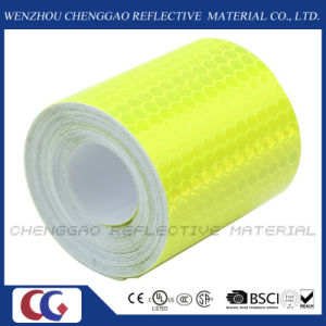 PVC Honeycomb Type Fluorescent Reflective Safery Tape for Traffic (C3500-OF) pictures & photos