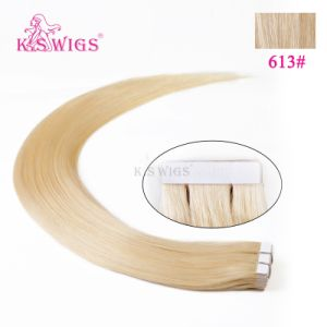Double Drawn High Quality Human Tape in Hair Extension pictures & photos