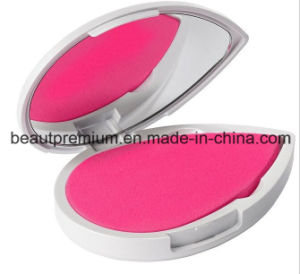 Make-up Mirror Plastic Mirror Single Side Mirror Cosmetic Mirror with 2PC Puff Sponge Water Drop Shaped Mirror and Puff Sponge BPS005 pictures & photos