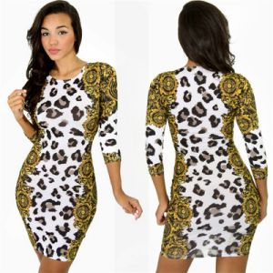 Sexy Leopard Nightclub Fashion Slim Dress Stunning Dress Slim Fit Dress 2015 Hot Sexy Dress D2568 pictures & photos