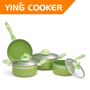 7PCS Aluminum Non-Stick Cookware Sets (YS-017)