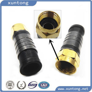 High Quality Compression F Male Connector pictures & photos