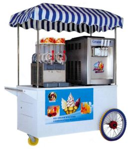 Ice Cream Machine Slush Machine with Handcart Trolly pictures & photos