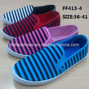 Latest Women Injection Casual Shoes Canvas Shoes Slip-on Shoes (FF413-4) pictures & photos