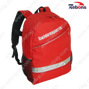 Red 600d Outdoor Travelling Sports Reflective Backpacks pictures & photos