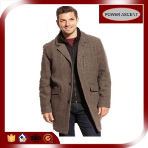 Fashion Design Men′s Wool Walking Coat for Winter pictures & photos