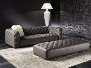 American Style Genuine Leather Tufted Sofa Set for Home (GLS-011) pictures & photos