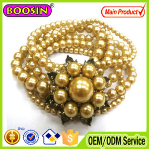 2016 Women Beads Flower Vintage Retro Wrap Bracelet pictures & photos