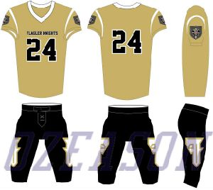 Wholesale Custom Design Youth American Football Uniforms / Tiger Football Jersey pictures & photos
