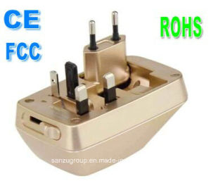 CE FCC RoHS Approved Universal Travel Adaptor with USB Port pictures & photos