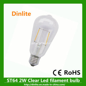Clear St64 2W E27 LED Filament Bulb pictures & photos