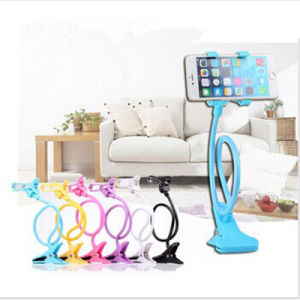 Universal 360 Rotating Lazy Mobile Phone Clip Holder GPS Desk Bed Table Stand Mount for iPhone 5s HTC LG Huawei Lenovo