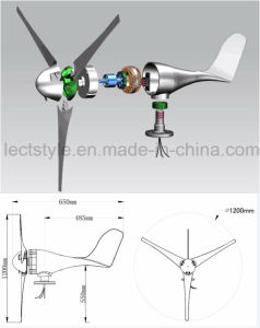200W Small Wind Turbine Generator 12V 24VAC for Sale pictures & photos