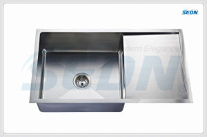 Handmade Single Bowl Stainless Steel Sink with Drainer (SC3002L) pictures & photos