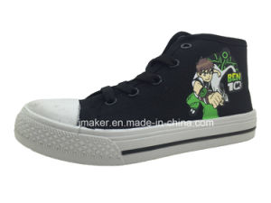 Asian Cool Cartoon High Ankle Children Sneaker (X169-S&B) pictures & photos