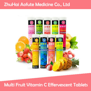 Multi Fruit Vitamin C Effervescent Tablets pictures & photos